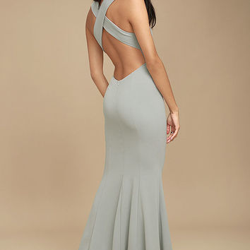 Heaven and Earth Grey Maxi Dress