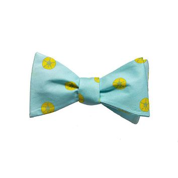 Sand Dollar Bow Tie - Printed Silk
