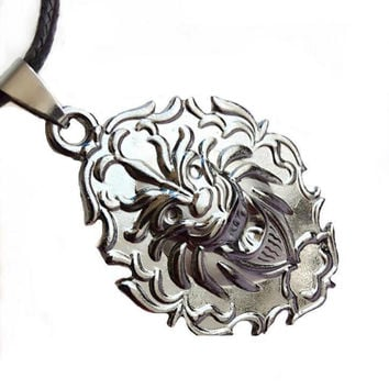New Arrival Shiny Gift Jewelry Vintage Strong Character Titanium Pendant Men Stylish Accessory Necklace [6526585091]