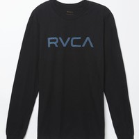 RVCA Lines Long Sleeve T-Shirt - Mens Tee - Black