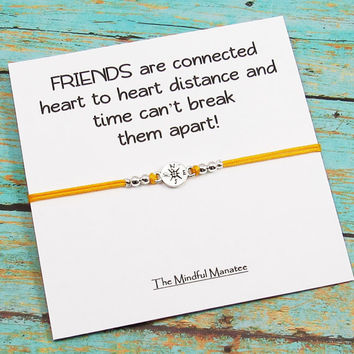 Friends Are Connected By The Heart Bracelets | Best Friend Gift | Matching Friendship Bracelets | BFF Gift