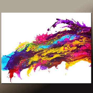 Abstract Canvas Art Painting Canvas HUGE 60x48 Original Contemporary Paintings by Destiny Womack - dWo -  Chasing Dreams