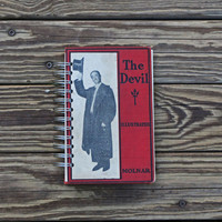blank book journal notebook - the Devil - recycled journal diary