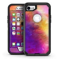 Grunge Absorbed Watercolor Texture - iPhone 7 or 7 Plus OtterBox Defender Case Skin Decal Kit