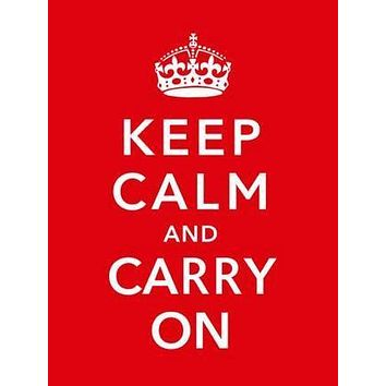 Keep Calm Carry On British War poster Metal Sign Wall Art 8in x 12in