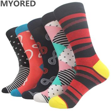 MYORED Colorful Men's Cotton Business Socks