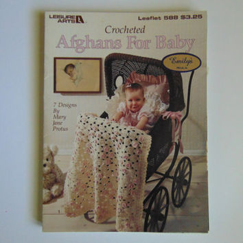 Crocheted Afghans for Baby 7 Designs Leisure Arts, Leaflet 588 – 1988