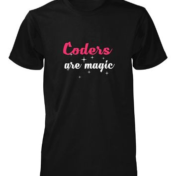 Coders Are Magic. Awesome Gift - Unisex Tshirt