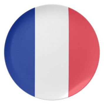 French Flag Plate