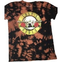 Hand Bleached Guns N Rose's Band Tee