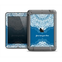 The Intricate Blue & White Snowflake Name Script Apple iPad Air LifeProof Fre Case Skin Set