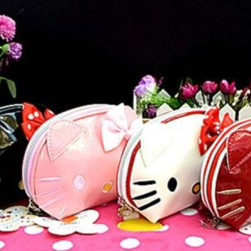 New Hello kitty make up Bag Clutch Bag yey-12262