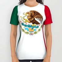 Flag of Mexico - Authentic Scale and Color (HD image) All Over Print Shirt by Flags