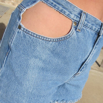 High Waisted Shorts with Cut Out Pocket Size 6