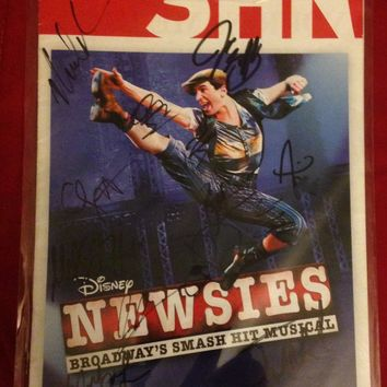 Newsies 1St National Tour - Signed Playbill San Francisco