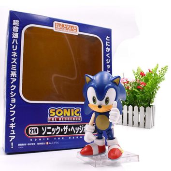 """Sonic The Hedgehog PVC The GSC sonic 214 Super Sonic Hedgehog Q Version Of The Clay Manual Movable Figure Toy For Children 4"""""""