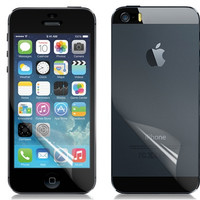 NEWTOP Color Diamond Ultra-slim Front & Back Screen Protector Set for iPhone 5S (Transparent)
