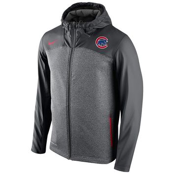 Nike Chicago Cubs Chain Full-Zip Heavyweight Fleece Hoodie 1.5