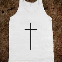 White cross tank