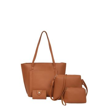Pocket Front Tote Bag & Crossbody Bag & Clutch & Card Holder