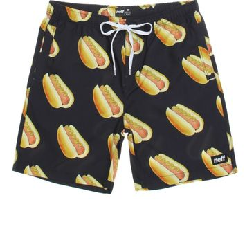 Neff Hot Dog Hot Tub Boardshorts - Mens Board Shorts - Black