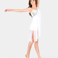 Free Shipping - Adult Lyrical Dress With Attached Shorty Unitard by DOUBLE PLATINUM