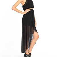 Belted Chiffonness Dress