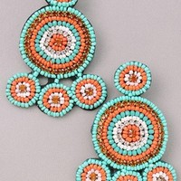 Savannah Beaded Statement Earrings