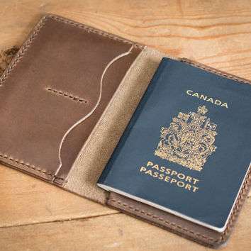 Passport cover leather passport wallet, case, leather passport holder - DCXL