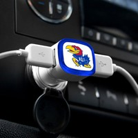 NCAA Kansas Jayhawks Car Charger, White