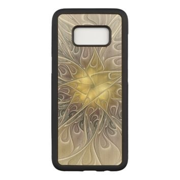 Flourish With Gold Modern Abstract Fractal Flower Carved Samsung Galaxy S8 Case