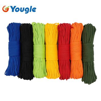 NEW 100FT 3.5mm 300LB 4 Strands Paracord Parachute Cord Micro Cord Lanyard Guyline Tent Rope For Outdoor Camping Hiking Bracelet