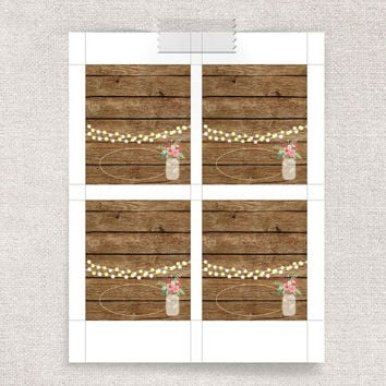Rustic Place Cards Printable, Folding Editable Place Cards - Digital File, INSTANT DOWNLOAD - Wedding Tent Cards