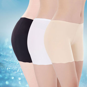 New Summer High Waist Safety Short Pants Underwear Cottton Women Boxer Briefs Boyshorts Sexy Women's Boyshorts Panties for Lady