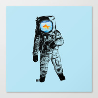 Goldfish Astronaut Canvas Print by Matt Irving