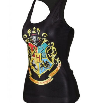 Quality Digital Print Tank Top Clubwear Gothic Punk T-Shirt (Size: M, Color: Multicolor) = 5617286145