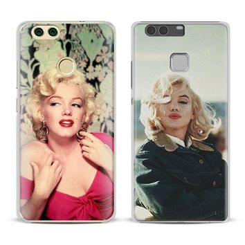 Marilyn Monroe actress Coque Phone Case Cover Shell For Huawei P8 9 10 Lite 2017 Honor 6x 8 V8 V9 Mate 7 8 9 10 Pro Nova Plus 2