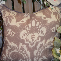 Plum Paisley Print Pillow