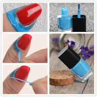 6ml Blue Liquid Tape & Peel Off Base Coat Easy Clean Care Nail Polish Nail Art Liquid Palisade Nail Art Latex