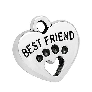 20 Pieces Best Friends Wolf Paws Magic Powers Charms Findings for Jewelry Pendant Necklace 15x15mm