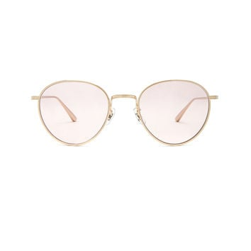 Oliver Peoples x The Row Brownstone 2 Sunglasses in Brushed Gold & Pink Wash | FWRD