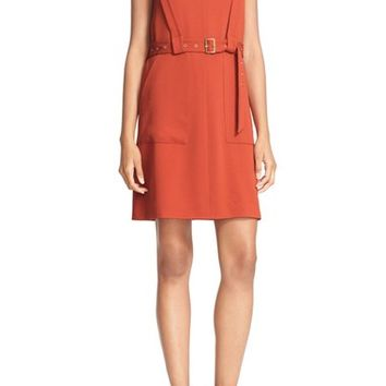 Tibi 'Savanna' V-Neck Crepe Sheath Dress | Nordstrom