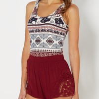 Burgundy Folklore Brushed Tank Top | Casual Tank Tops | rue21