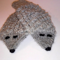 Animals Gloves/ Hedgehogs Mittens/ Kids Gloves/ Knitted Mittens/ Children, Toddler Mittens/ Boy Gloves/ Girl Mittens