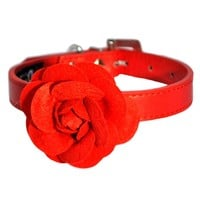 Peony Collar in Red