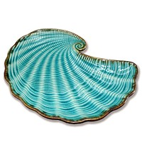 Blue Ceramic Shell Plate | 8-1/2-in