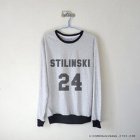 Stilinksi 24 Long Sleeve Tshirt / Stiles Stilinski Sweatshirt / Dylan O'Brien Shirt / Teen Wolf Sweatshirt / Tumblr / Plus Size