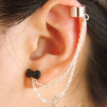 Removable Teeny Bow Ear Cuff Earrings