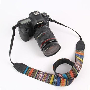 Creative Aztec Ethnic Camera Straps Retro Vintage Neck Strap