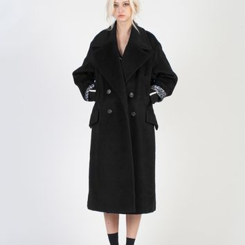 Royal Classical Suri-Alpaca Coat _ JET BLACK